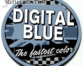 Digital Blue - Magnetic Grill Badge for MINI Cooper