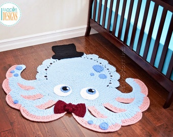 NEW PATTERN Inky the Octopus Animal Rug PDF Crochet Pattern with Instant Download