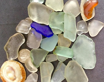 "A-Sea Glass Beach Glass of Hawaii SALE! 1/2"" or bigger! COBALT! ONLY 29 Dollars! Bulk Sea Glass! Sea Glass Bulk! Mosaic Tiles!"