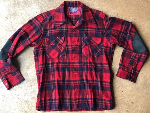 wool 1960s Pendleton board shirt, me s medium
