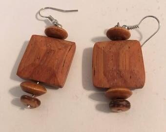 Teak earrings