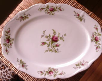 Johann Haviland Platter 'Moss Rose', Serving Platter, Large Porcelain Platter