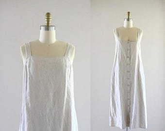 ON SALE linen apron dress / s