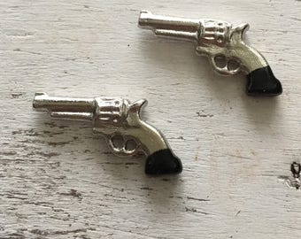 ON SALE Miniature Western Pistols, Packaged Set of 2 by Timeless Minis, Mini Guns, Miniature Guns, Set of 2