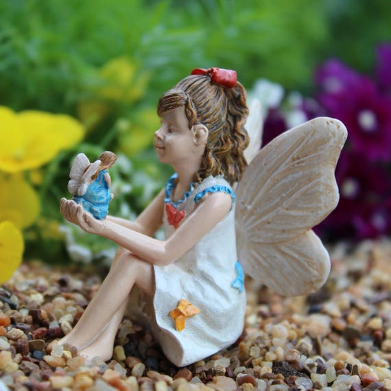 Fairy Nicole with Itty Bitty Fairy in her Fairy Garden