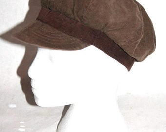 Moving Sale Softest Brown Vintage Corduroy Newsboy Cap- Size M