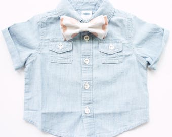 Rose Gold Large Dot Bow Tie