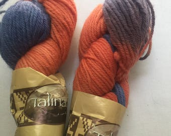 Bulky - Eater Bitran Talinay wool hand dyed yarn - made in Chile