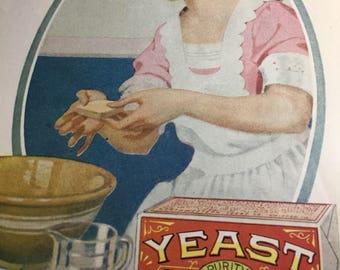 Yeast Foam ad 10 x 13 original large graphic chicago ill