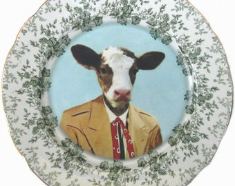 Colton the Cowboy Portrait Plate 7.75""