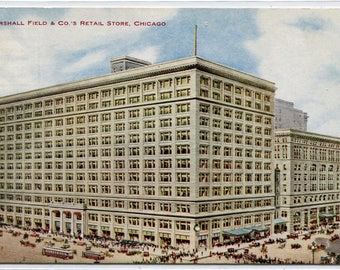 Marshall Field Department Store Chicago Illinois 1910c postcard