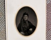 Tintype - Lady, Mrs. Schoonover in Mourning
