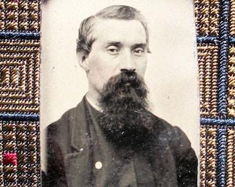 GEM Size Tintype - Mister Long, Lush Beard