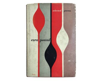 """Alvin Lustig book jacket design, 1949. """"Selected Poems"""" by Ezra Pound [New Directions, New Classics] NC22"""