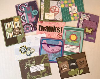 11 Thank You Cards, Thank You Cards, Christian Cards, Greeting Cards, Handmade Cards.