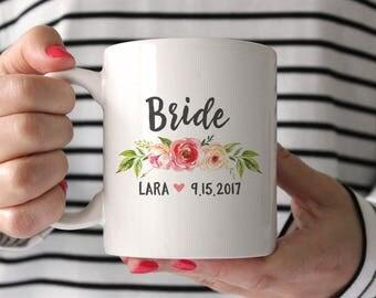 Bride Mug Bride Gift from Bridesmaid Bride Gift from Maid of Honor Bride Gift from Sister Bride Gift from Mother Bride Gift Idea Pink BGF