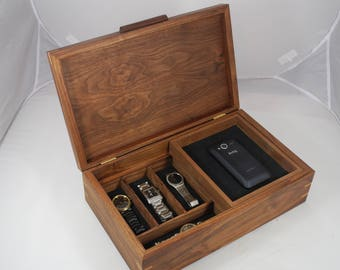 Men's combination Valet Box with phone charging port