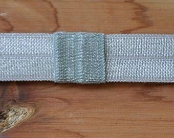 Interchangeable Headband - Gray Elastic Headband - Newborn Headband - Baby Headband - Baby Bows - Elastic Headband - Infant Headband