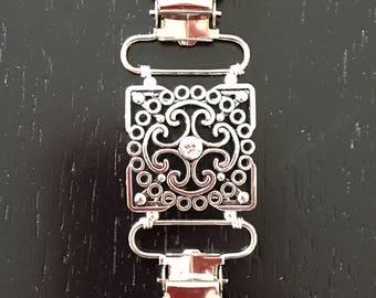 Silver square Handmade Clothing Cinch Clip