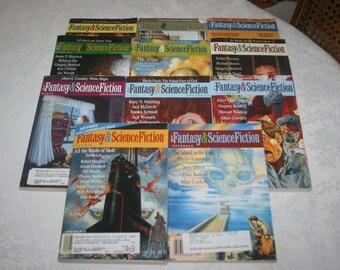 1998 Eleven 11  Vintage Fantasy & Science Fiction Magazines Sci Fi Fantasy Science Fiction
