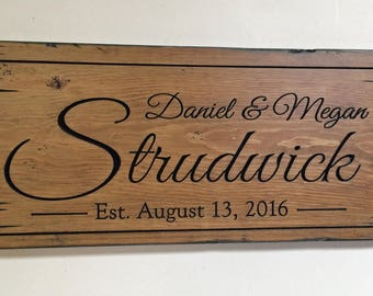 Pallet Name Sign / Custom wood name sign/ Shabby Chic /  Personalized rustic name sign / Pallet Name Sign / Custom Family Name Signs