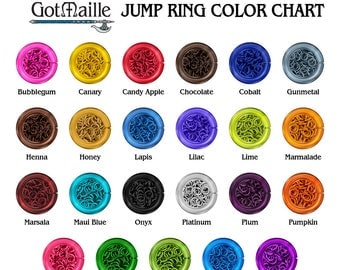 Jump  Rings - 18g (AWG) 6mm ID Anodized Aluminum Jump Rings - 1 Ounce - Pick Your Color!