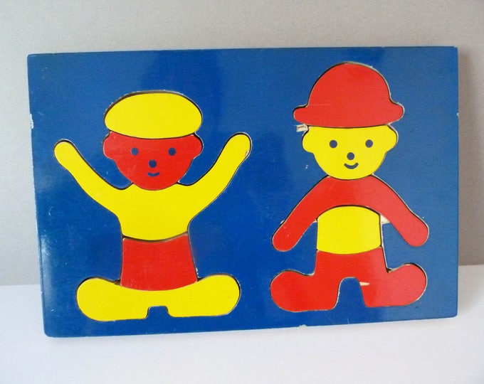 Clement Nelsen wooden puzzle 1970's Danish