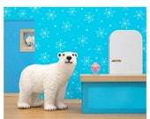FALL SALE Polar bear animal art print: Some Like It Cold