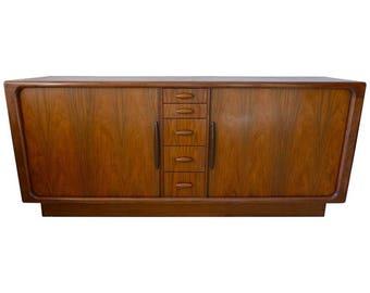 Dyrlund Dresser Credenza of Rosewood from Denmark with Tambor Doors, circa 1970