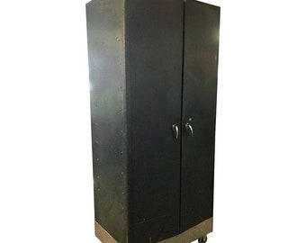 ON SALE Storage Locker Unit of Steel on Wheels with Hanging Closet and Stacking Shelves