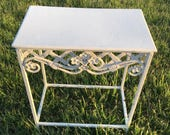 Metal Plant Stand Shabby Chippy Vintage