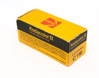 Kodak Kodacolor type 116 film, C41 color, expired, sealed
