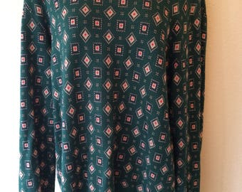 Vintage 1990s Liz Claiborne Collection size large womens sweater green