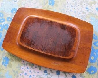 DANSK Jens Quistgaard MCM Wood IHQ DeNMARK Cheese Cutting Board Tray Signed