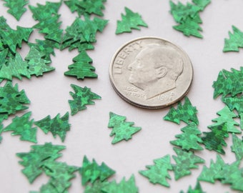 Chunky Glitter, Green Trees, Shiny,  Decorative Embellishments (CG 1)