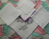 5 Vintage Hankies Good Vintage Condition Lot 2806