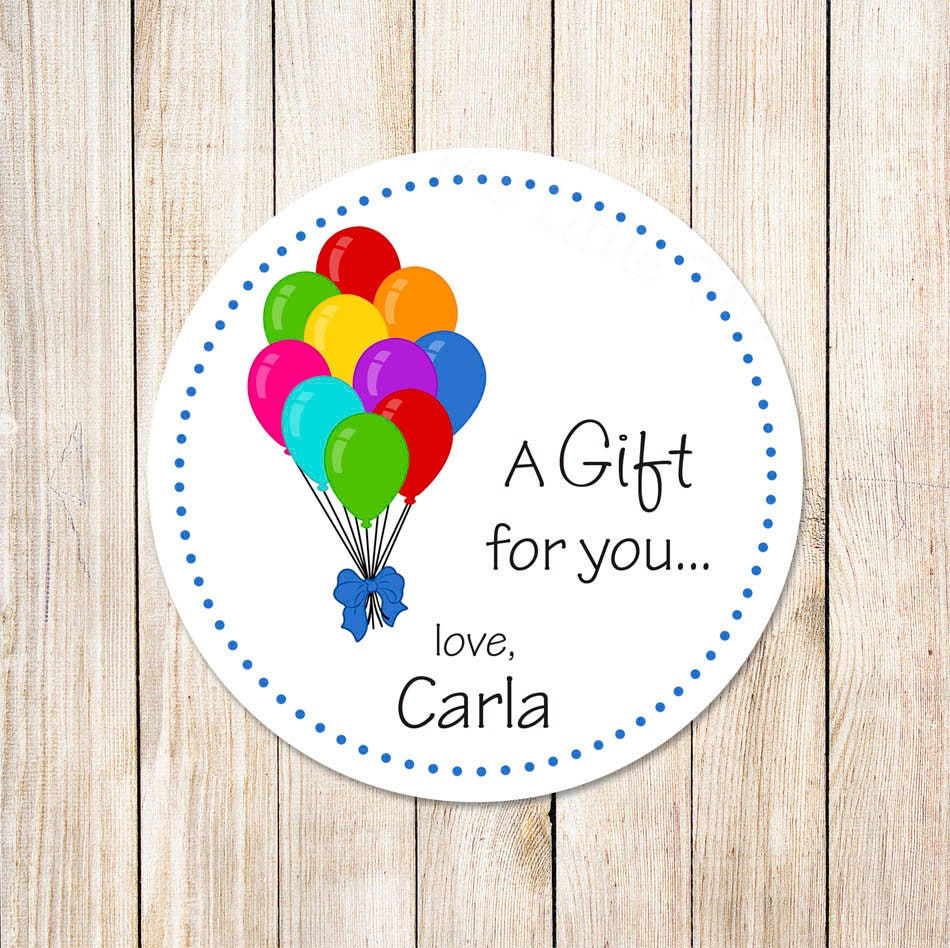 Birthday Balloons Tags . Gift Tags . Favor Tags . Labels
