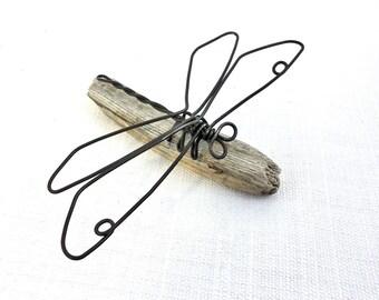 Dragonfly Wire Sculpture, Dragonfly Wire Art, Minimal Wire Sculpture, 551029620