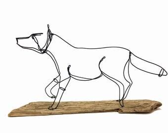 Fox Wire Sculpture, Fox Wire Art, Fox Art, 575862419