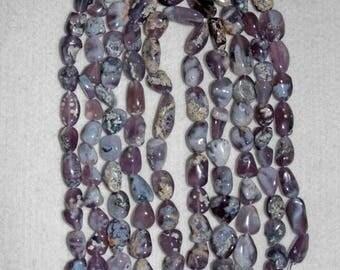 Chalcedony, Lavender Chalcedony, Chalcedony with Skin, Organic Chalcedony, Nugget Beads, Semi Precious, Full Strand, 13-21 mm, AdrianasBeads