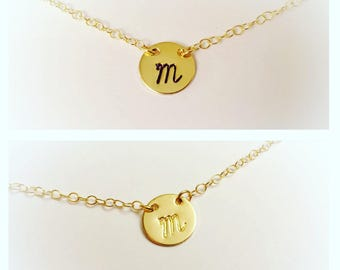 Gold Initial Necklace, Gold Letter, Letter Necklace, Gold Letter Jewelry, Monogram Necklace, Monogram Jewelry, Initial Necklace, Alphabet