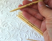 7US (4 Inches SHORT) DoublePointed Knitting Needles Bamboo