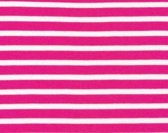 Organic KNIT Fabric - Cloud9 2017 Knits - Colorful Stripes Pink