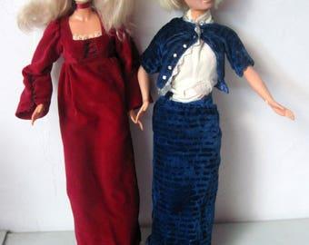 Two Vintage 1970s Mego Dolls