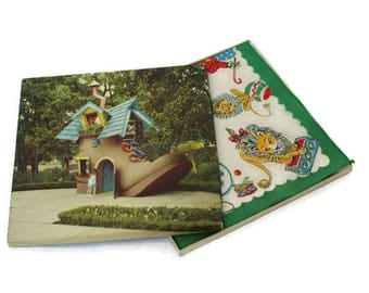 Vintage Handkerchief  /  Children's Hankie in Original Box  /  Circus Themed Old New Stock  /  Old Woman Who Lived in a Shoe