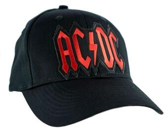 Ac/Dc Lightning Bold Hat Baseball Cap Alternative Clothing Back in Black Rock - YDS-EP42-CAP