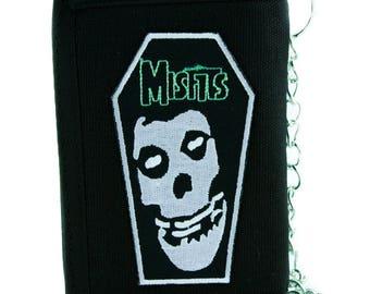 Coffin Skull Misfits Tri-fold Wallet with Chain Punk Rock Alternative Horror - YDS-EPP34-WALLET