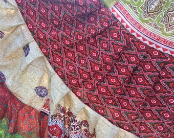 Gypsy skirt, tribal belly dance skirt, 25 yard skirt, ATS skirt, boho skirt, belly dance skirt, cotton skirt, flamenco skirt