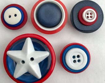 4th of July magnets button Independence Day patriotic kitchen decor