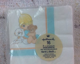 15% OFF Vintage Precious Moments Baby Boy Napkins Sealed Pack of 16 Hallmark